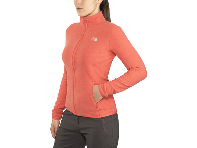 The North Face 100 Glacier Chaqueta con cremallera completa Mujer, juicy red stripe